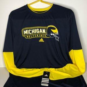Adidas ClimaLite Michigan Wolverines Sz XL (18)